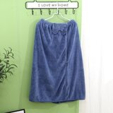 Deals For Less - Super Soft Absorbent Bathrobe With Bow Design, Blue Color