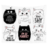 DEALS FOR LESS - Wall Tapestry Home Decor, Cute Cat Design.
