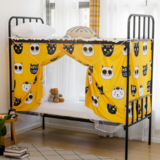 Deals For Less - Bed Curtain For Lower Deck Single Bed, Cute Cat Design Yellow Color
