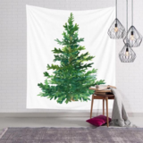DEALS FOR LESS - Wall Tapestry Home Decor, Green Christmas Tree Design.