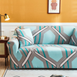 Deals For Less - 1 Seater Sofa Cover, Stretchable Couch Slipcover,  Geometric Printed Design.
