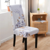 DEALS FOR LESS - 1 Piece Stretchable Dining Chair cover Floral Design.
