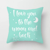 DEALS FOR LESS - 1 Piece I Love You to The Moon & Back Design, Decorative Cushion Cover.