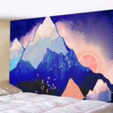 Deals For Less - Wall Tapestry Home Decor, Blue Mountain Design.