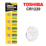 Toshiba CR1220 3V Lithium Coin Cell Battery One Pack of 5 batteries