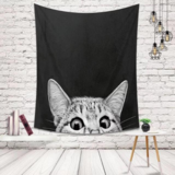 Deals For Less - Wall Tapestry Home Decor, Cat Design.