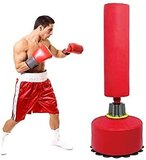 Marshal Fitness 170Cm Free Standing Punching Stand Silicon Boxing Stand With Self Suctions Mma,Boxing And Home Fitness Training-Mf-9132 (Blu)