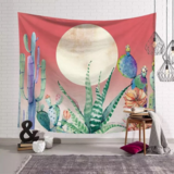 Deals For Less - Wall Tapestry Home Decor, Moon & Cactus Design.