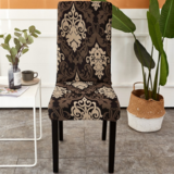 DEALS FOR LESS - 1 Piece Strechable Dining Chair cover, Dining room chair slipcover, Brown Bohemia Design.