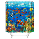 DEALS FOR LESS - Water Proof Shower Curtain, Fish  Design