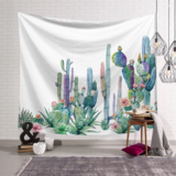 Deals For Less - Wall Tapestry Home Decor, Cute Cactus Design.