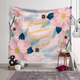 Deals For Less - Wall Tapestry Home Decor, Pink Floral Design.