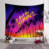 Deals For Less - Wall Tapestry Home Decor, Palm Trees Design.