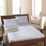 DEALS FOR LESS - White Mattress Protector Pad , Bed Cover Double Size.