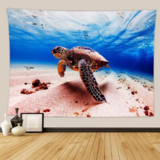 Deals For Less - Wall Tapestry Home Decor, Turtle Design.