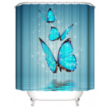 DEALS FOR LESS - Water Proof Shower Curtain, Butterfly Design