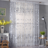 Deals For Less Tulip Tulle,  Window Sheer Curtains Set Of 2 Pieces, Grey Color