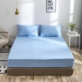 Deals For Less - 3 Pieces  fitted sheet Queen Size, Light Blue Color, Bedsheet Set