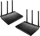 ASUS RT-AC67U 2 Pack AiMesh Dual band AC1900 Wi-Fi System Router (for large and multi-story homes, supports flexible SSID setting, AiProtection Pro network security) | RT-AC67U