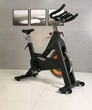 Marshal Fitness Hevay Duty Indoor Exercise Spinning Bike Cycling Spine Bike Cardio Workout Driven Flywheel Cycling Adjustable Handlebars Seat Resistance Digital Monitor-Mfk-1625M