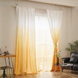 Deals For Less - Yellow Ombre Design, Curtains Window Decor, Set Of 2 Pieces.F 2 Pieces.