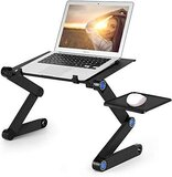Laptop Table - Portable Laptop Workstation Notebook Stand Reading Holder With 2 CPU Cooling Fans