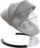 LTJ Toddler Infant Comfort Swing Chair Soft Toddler Cradle Seat Baby Rocker with Bluetooth/Remote Control Music From Newborn. (Gray,2058)