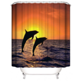 DEALS FOR LESS - Water Proof Shower Curtain, Dolphin Design
