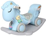 2 in 1 Ride on & Rocking Horse with Music (8178,Blue)