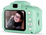 Mini Rechargeable Photo/Video Camera For Kids,Suitable For Ages 3+ (Light Green) 8GB