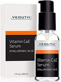 Yeouth Vitamin C & E Serum For Day With Vitamin E And Hyaluronic Acid Serum, Anti Wrinkle, Fill Fine Lines, Evens Skin Tone, Fades Age Spots, Medical