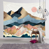 Deals For Less - Wall Tapestry Home Decor, Mountain Design.