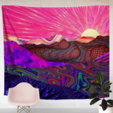 Deals For Less - Wall Tapestry Home Decor, Colorful Mountain Design.