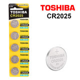 Toshiba CR2025 3V Lithium Coin Cell Battery One Pack of 5 batteries