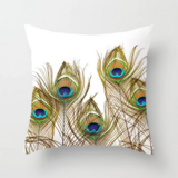 DEALS FOR LESS - 1 Piece Peacock Feather Design, Decorative Cushion Cover.