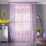 Deals For Less Tulip Tulle,  Window Sheer Curtains Set Of 2 Pieces, Purple Color