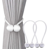 Deals For Less -2 Pieces Magnetic Curtain Holder , White Color.