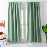 Deals For Less - Window Curtains Green Color , Set Of 2 Pieces.