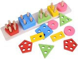 Brain Giggles Wooden Shape Sorting Toys