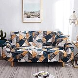 DEALS FOR LESS - 1 Seater Sofa Cover, Stretchable Couch Slipcove Geometric Design.