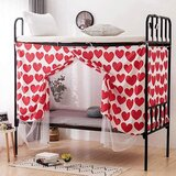 Deals For Less - Lower Deck Single Bed, Privacy Bed Tent With Mosquito Net, Red Heart Design