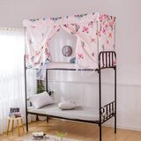 DEALS FOR LESS - Bed curtain & metal frame , Privacy Bed Tent with Mosquito Net, Butterfly Design