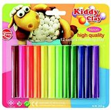 Kiddy Modeling Clay set of 12 Colors - Neon