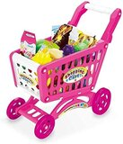 Shopping Cart Kids Grocery Trolly, Pretend Play Food, Fruits & Vegetables Toys Kids 3+ Ages - 56 Pieces