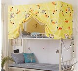 Deals For Less - Bed Curtain & Metal Frame , Privacy Bed Tent With Mosquito Net, Yellow Duck Design