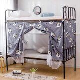 DEALS FOR LESS - Lower Deck Single Bed, Privacy Bed Tent with Mosquito Net, Panda Design