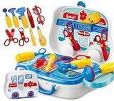 14-Pieces Little Doctor On The Go Playset For Ages 3 +  Blue
