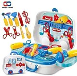 Pieces Little Doctor On The Go Playset For Ages 3 +  Blue