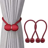 DEALS FOR LESS -2 pieces Magnetic Curtain Holder , Maroon Color.