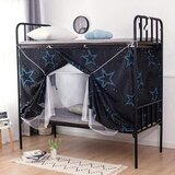 Deals For Less - Lower Deck Single Bed, Privacy Bed Tent With Mosquito Net, Star Design